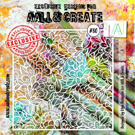 "AALL & CREATE - Stencils - 6"" x 6"" set number #80"
