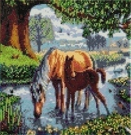 Diamond Painting - Crystal Art Kit - Fell Ponies