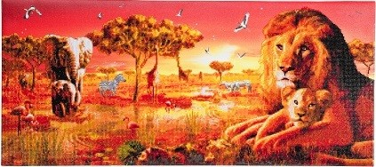 Diamond Painting - Crystal Art Kit - Safari Sunset Partial Landscape