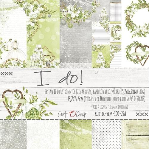 Craft-O-Clock - Paper Collection Set 15,2 x 15,2 cm - Greenery Charm I Do!