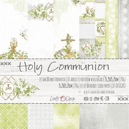 Craft-O-Clock - Paper Collection Set 15,2 x 15,2 cm - Greenery Charm Holy Communion