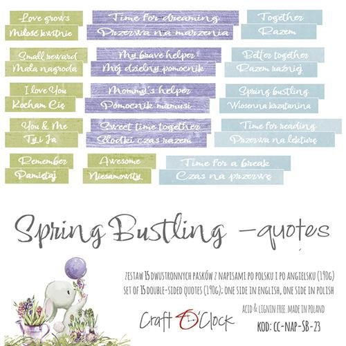 Craft-O-Clock - Die-Cut Quotes - Spring Bustling