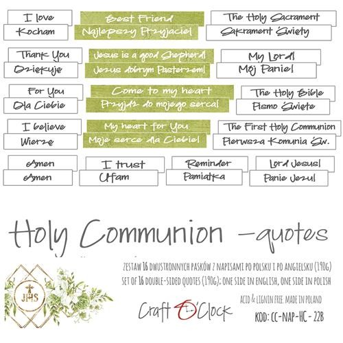 Craft-O-Clock - Die-Cut Quotes - Holy Communion
