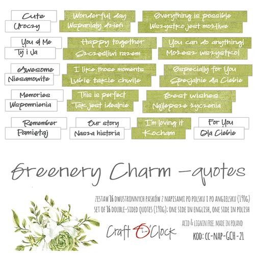 Craft-O-Clock - Die-Cut Quotes - Greenery Charm