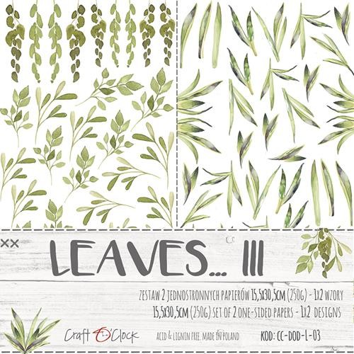 Craft-O-Clock - Paper Collection Set - Cutting Sheets Leaves 3