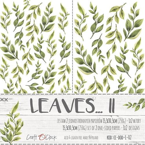Craft-O-Clock - Paper Collection Set - Cutting Sheets Leaves 2