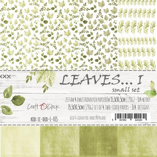 Craft-O-Clock - Paper Collection Set - Cutting Sheets Leaves 1