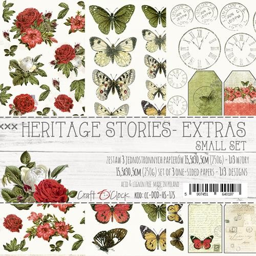 Craft-O-Clock - Paper Collection Set - Cutting Sheets Heritage Stories