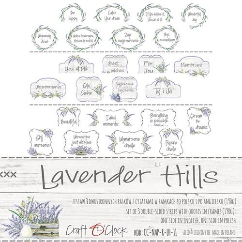 Craft-O-Clock - Cutting Sheets - Lavender Hills (tekst in box)