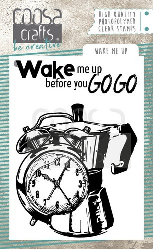 COOSA Crafts clearstamps A7 - Wake me Up A7