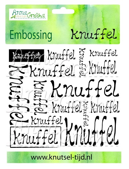 Anna Gretha Design - Embossing Folder - Knuffel