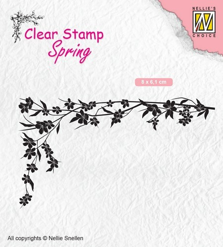 Nellies Choice - Clearstempel - lente Floral corner-1