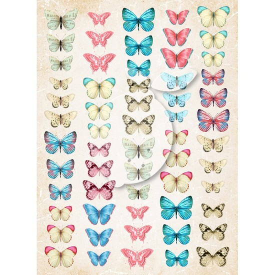 Knipvel Lemoncraft - A4 - Vintage 40 (Butterflies Sense & Sensibility)
