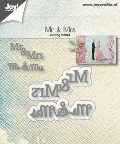 Joy! Crafts - Cutting & Embossing mal - Mr & Mrs text