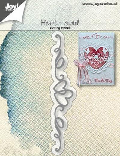 Joy! Crafts - Cutting & Embossing mal - Hart swirl