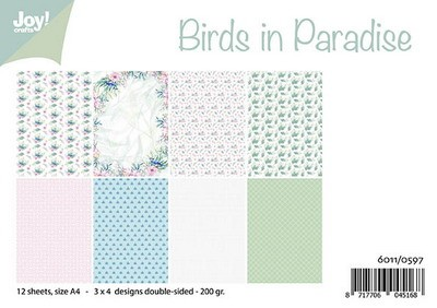 Joy! Crafts - Paperpad A4 - Birds in Paradise