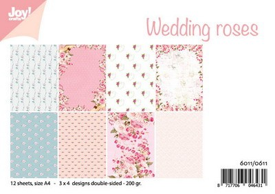 Joy! Crafts - Paperpad A4 - Wedding Roses