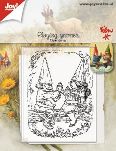 Joy! Crafts - Clearstamps - Rien Poortvliet - Spelende kabouters