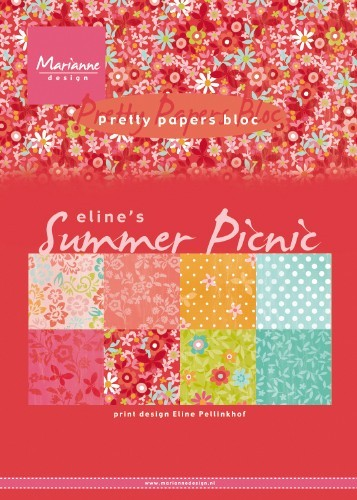 Marianne Design -  Paperpad A5 - Eline`s Summer Picnic