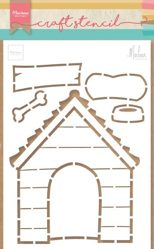 Marianne Design - Craft Stencil by Marleen - Doghouse