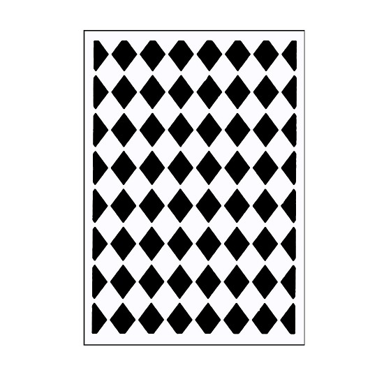 "Vaessen Creative - Embossing folder 3x5"" - Classy Diamonds"
