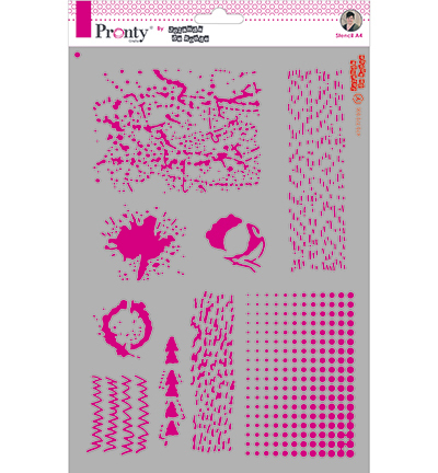 Pronty by Jolanda de Ronde - Mask stencil - A4 Grunge Objects