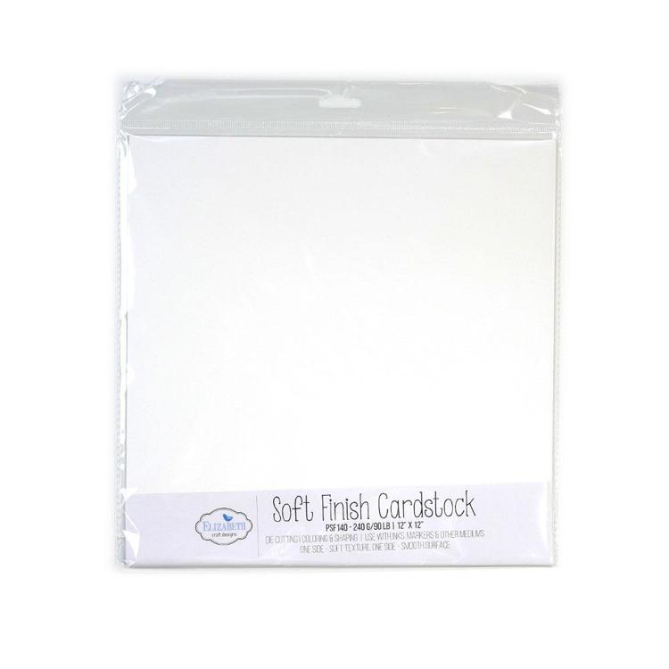 Elizabeth Craft Design - Soft Finish Cardstock - 12 x 12 - 240G/90LB - 10 Pack