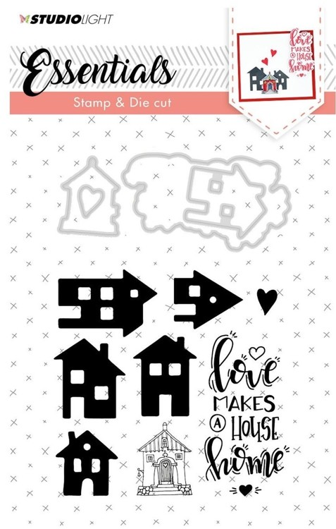 Studio Light - Essentials Stamp & Die cut A6 - nr.22 Home