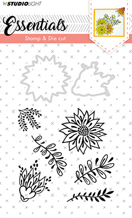 Studio Light - Essentials Stamp & Die cut A6 - nr.23 Bloemen