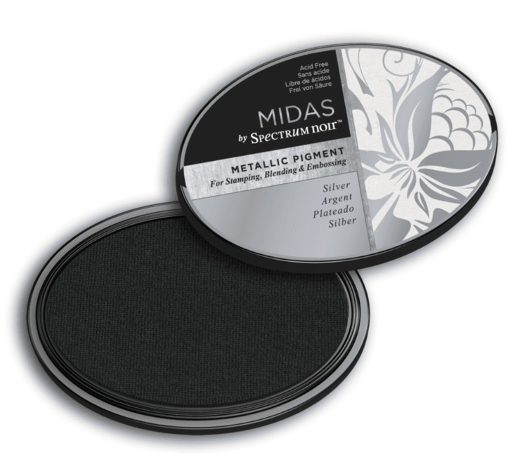 Crafter`s Companion Ink - Midas Metallic Ink - Silver