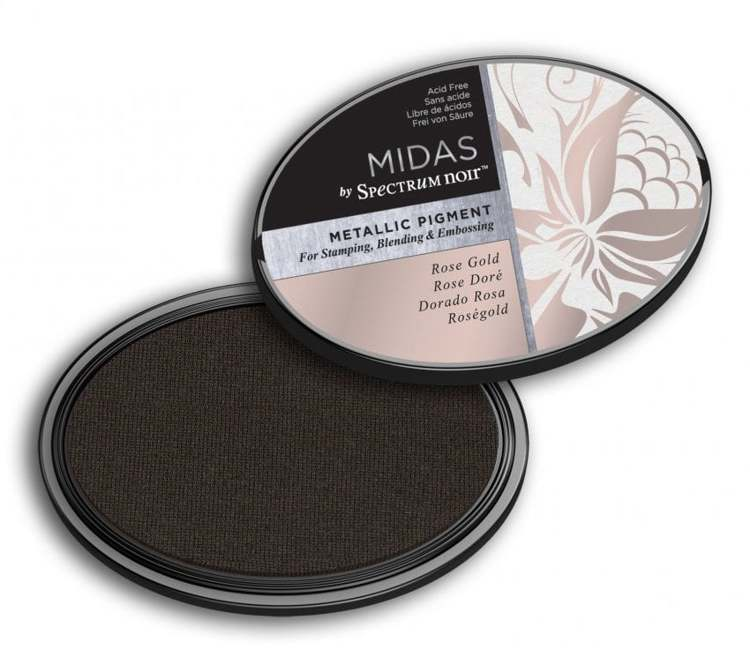 Crafter`s Companion Ink - Midas Metallic Ink - Rose Gold