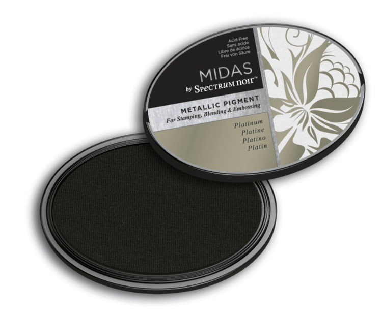 Crafter`s Companion Ink - Midas Metallic Ink - Platinum