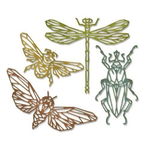 Stansmal Sizzix - Thinlits Die Set - 4PK Geo Insects