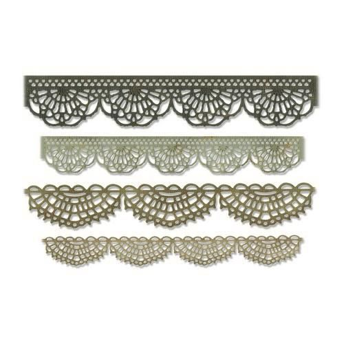 Stansmal Sizzix - Thinlits Die Set - 4PK Crochet