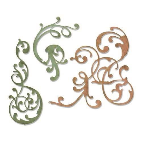 Stansmal Sizzix - Thinlits Die Set - 3PK Adorned