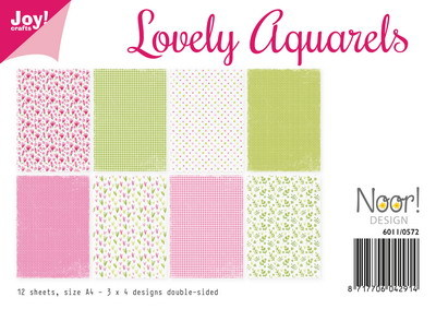 Noor! Design - Paperpad A4 - Lovely Aquarels
