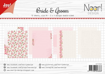 Noor! Design - Paperpad A4 - Bride and Groom