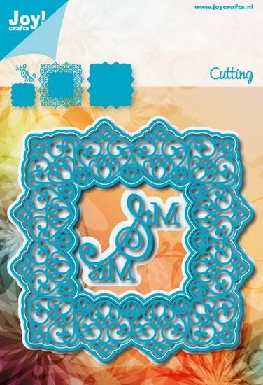 Noor! Design - Cutting & Embossing mal - Blauwe mal - Vierkant sierlijk Mr & Mrs