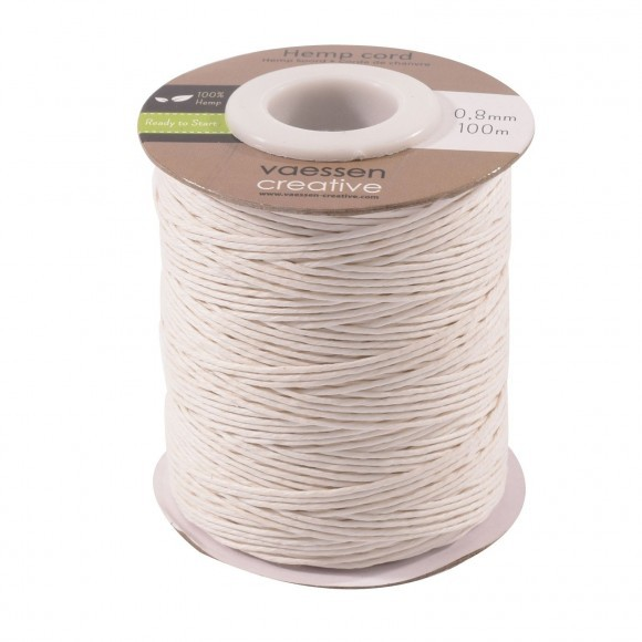 Hemp cord  - 0,8mm x 100m - White