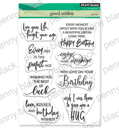 Penny Black - Clearstamp - Good Wishes Sentiments