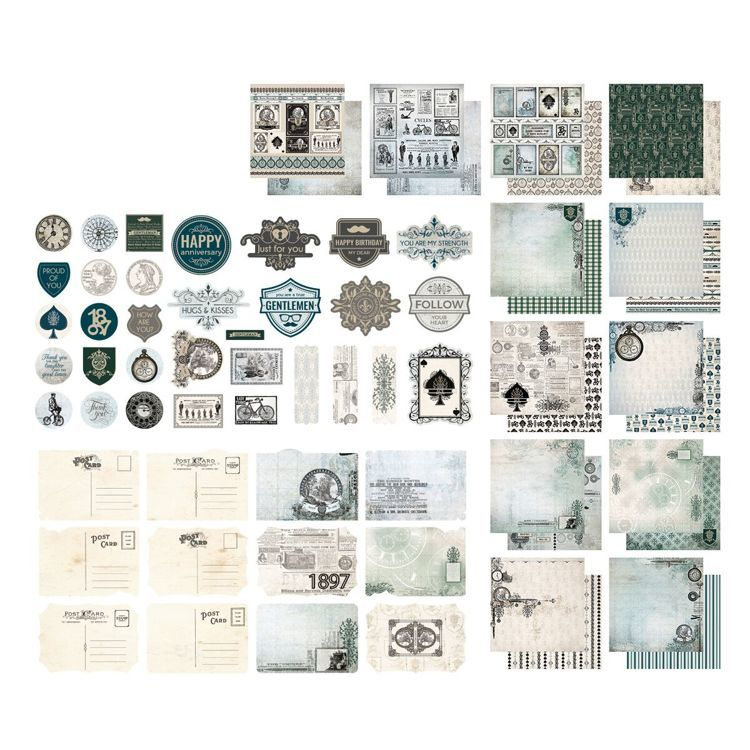 Couture Creations - Paper Pad 30,5 x 30,5 cm - Gentleman's Emporium Collection