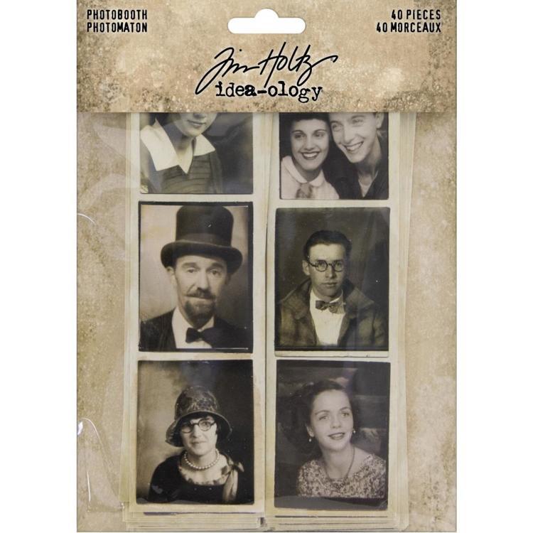Tim Holtz - Idea-Ology - Photobooth Vintage Photo Strips 40/Pkg