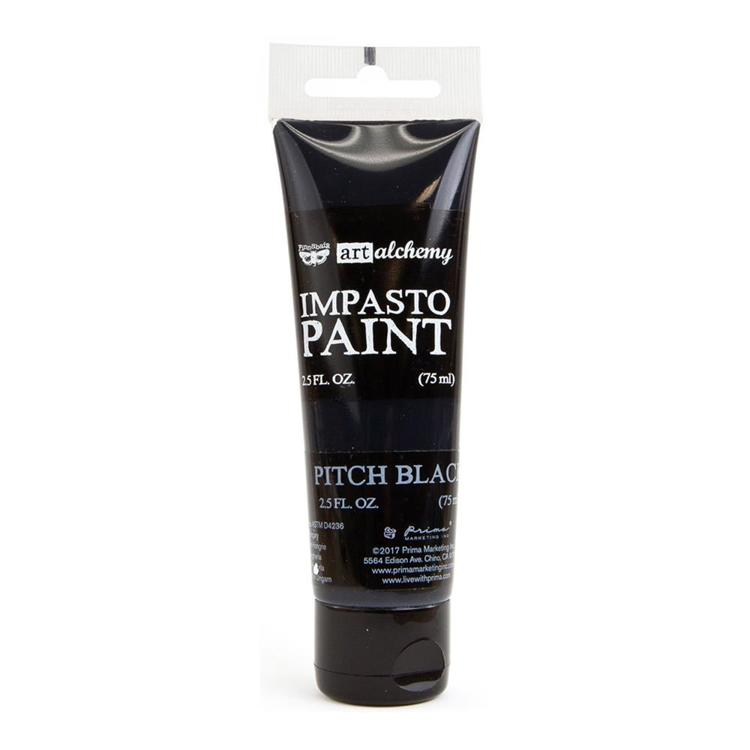 Prima Marketing - Art Alchemy - Impasto Paint - Pitch Black