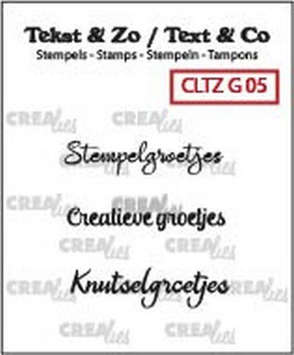 Crealies - Clearstamp Bits & Pieces - Stempelgroetjes