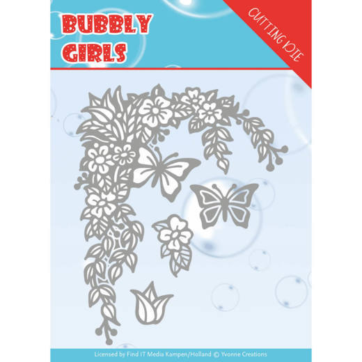 Stansmal - Yvonne Creations - Bubbly girls- Flower Corner