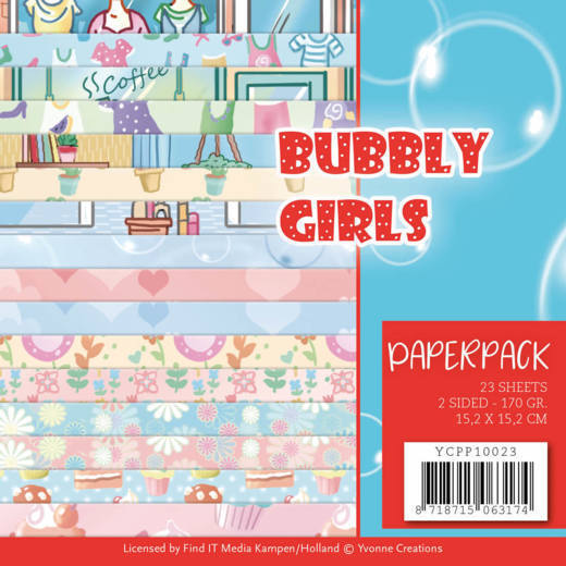 Paperpack - Yvonne Creations - Bubbly Girls