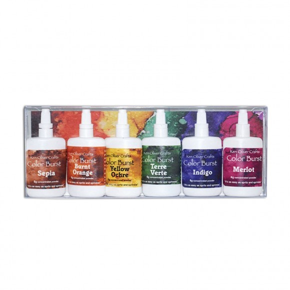 Ken Oliver - Color burst powder - 6 pack Earth Tones