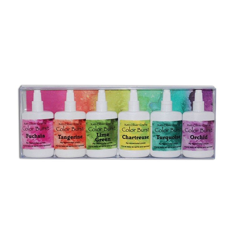 Ken Oliver - Color burst powder - 6 pack Caribbean Brights
