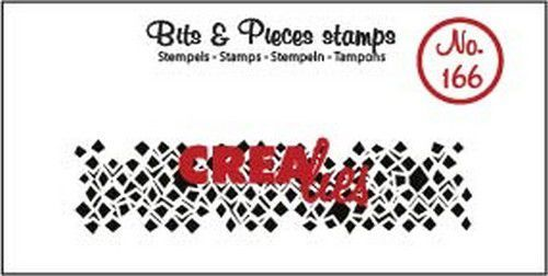 Clearstamp Crealies - Bits & Pieces - Onregelmatige vierkanten (lang)