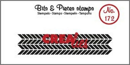 Clearstamp Crealies - Bits & Pieces - Zigzag langwerpig (lang)